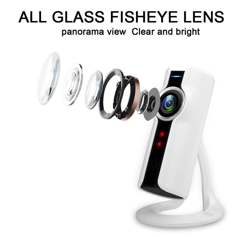 720P Wireless Wifi Camera Panoramic 180o Glass Fish-eye 100 DPI VR Camera
