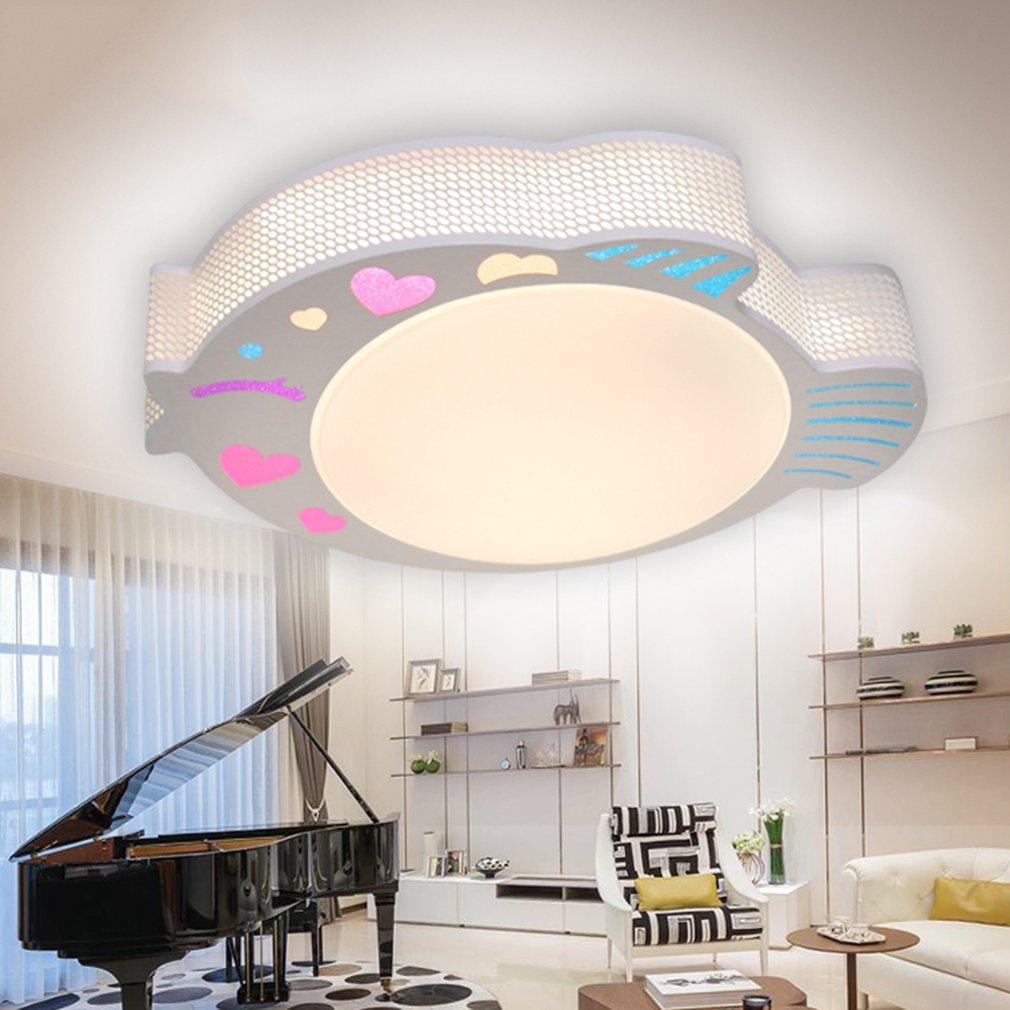 Φ595*H100mm Adjustable Colors Home Room Ceiling Hanging Fish Light Lamp