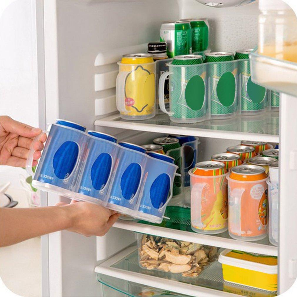 Refrigerator Storage Box Household Beverage Coke Drink Can Storage Organizer