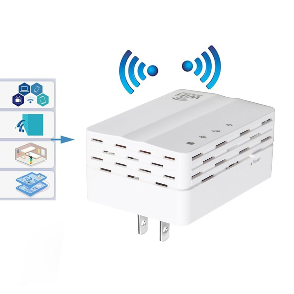 300Mbps 2.4GHz WiFi Repeater Mini Pocket Size Home Travel Wireless Router