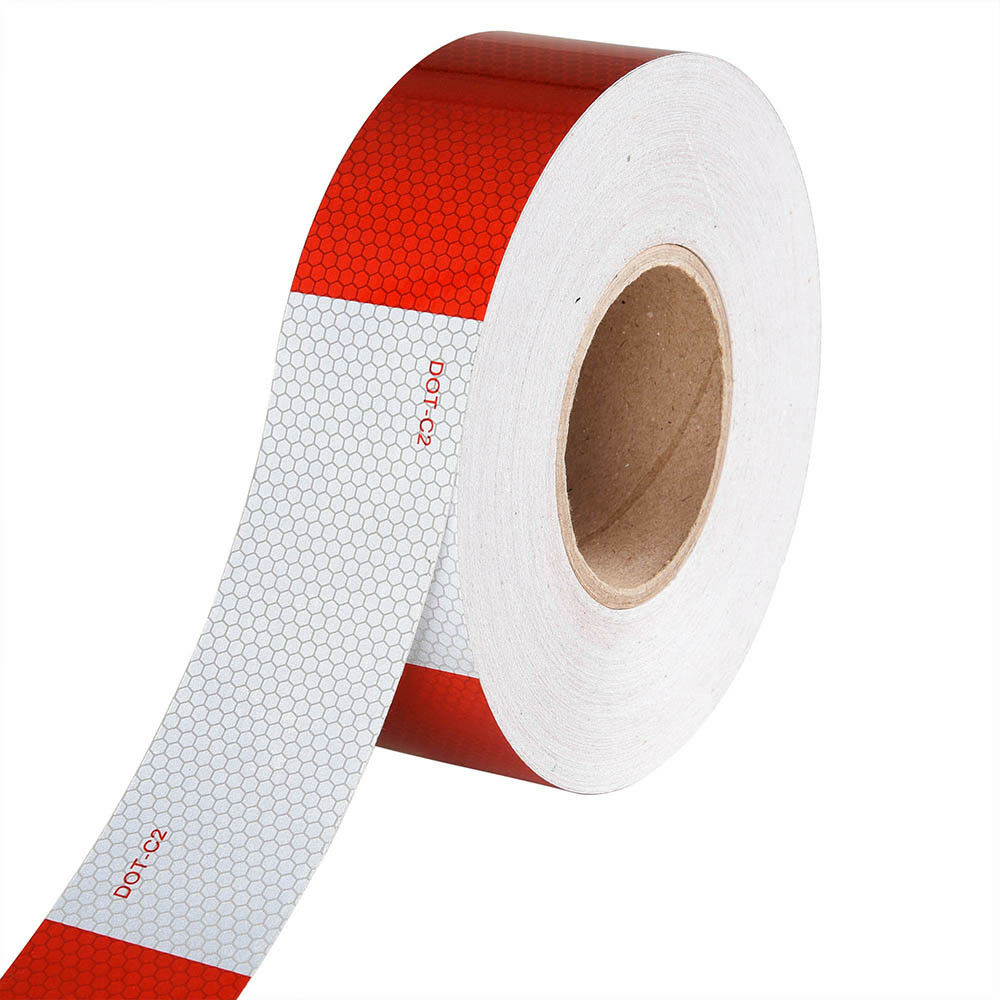 """DOT-C2  2""""x150' Conspicuity Reflective Tape Strip Trailer Safety Sticker Decal"""