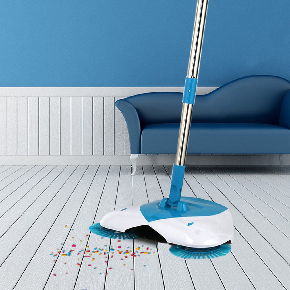 Spin Hand Push Broom Adjustable Convenient Sweeping Supply For Household