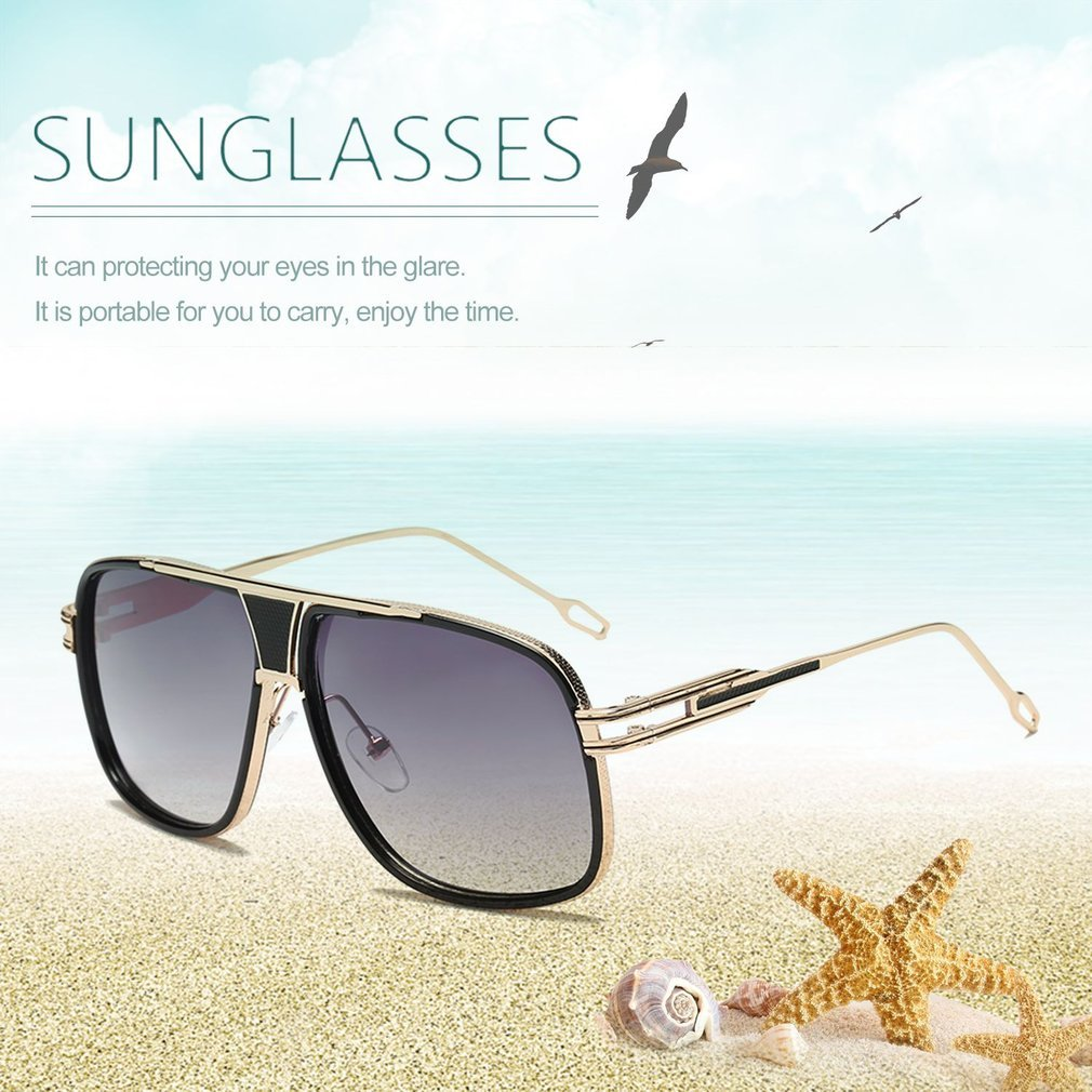 Big Frame Men Male Fashionable Sunglasses Men Large Frame UV Protective Outdoor Travel Driving Eyewear Glasses