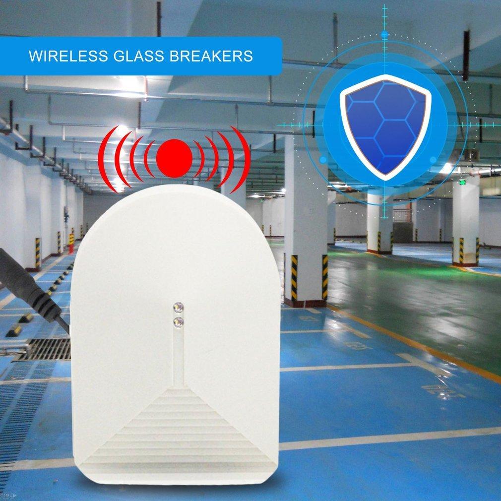 Wireless Glass Break Sensor Detector 315MHz For Home Security Alarm System