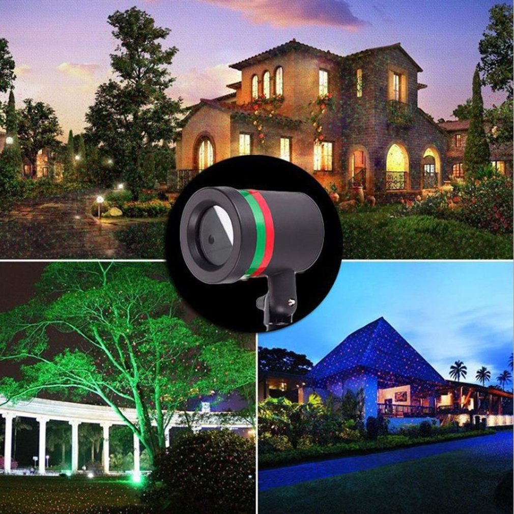 Laser Light Projection Projector Christmas Outdoor Lawn Landscape LED Lamp