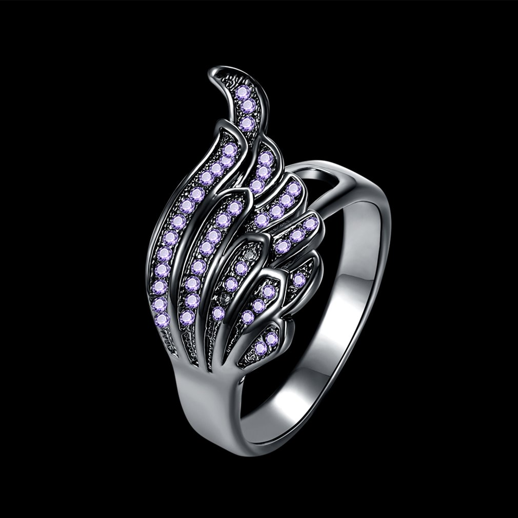 Women's Wing Shape Zircon Ring