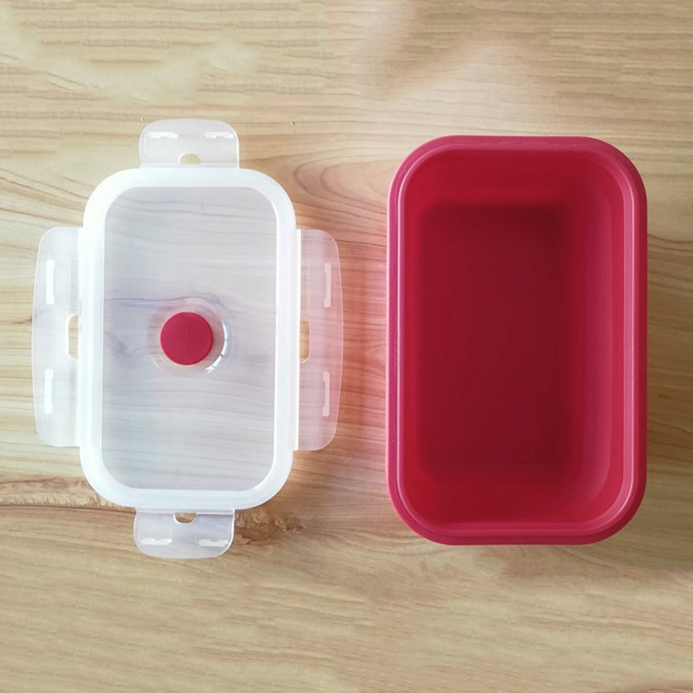 Colorful Foldable Silicone Lunch Box Eco-Friendly Food Container Lunchbox