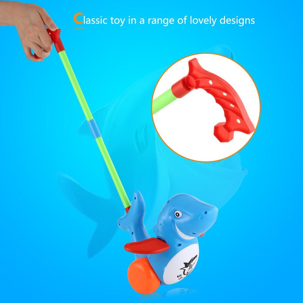 Push Animal Toys Shark Shaped Cartoon Cart Toys Baby/Toddler/Child Walking