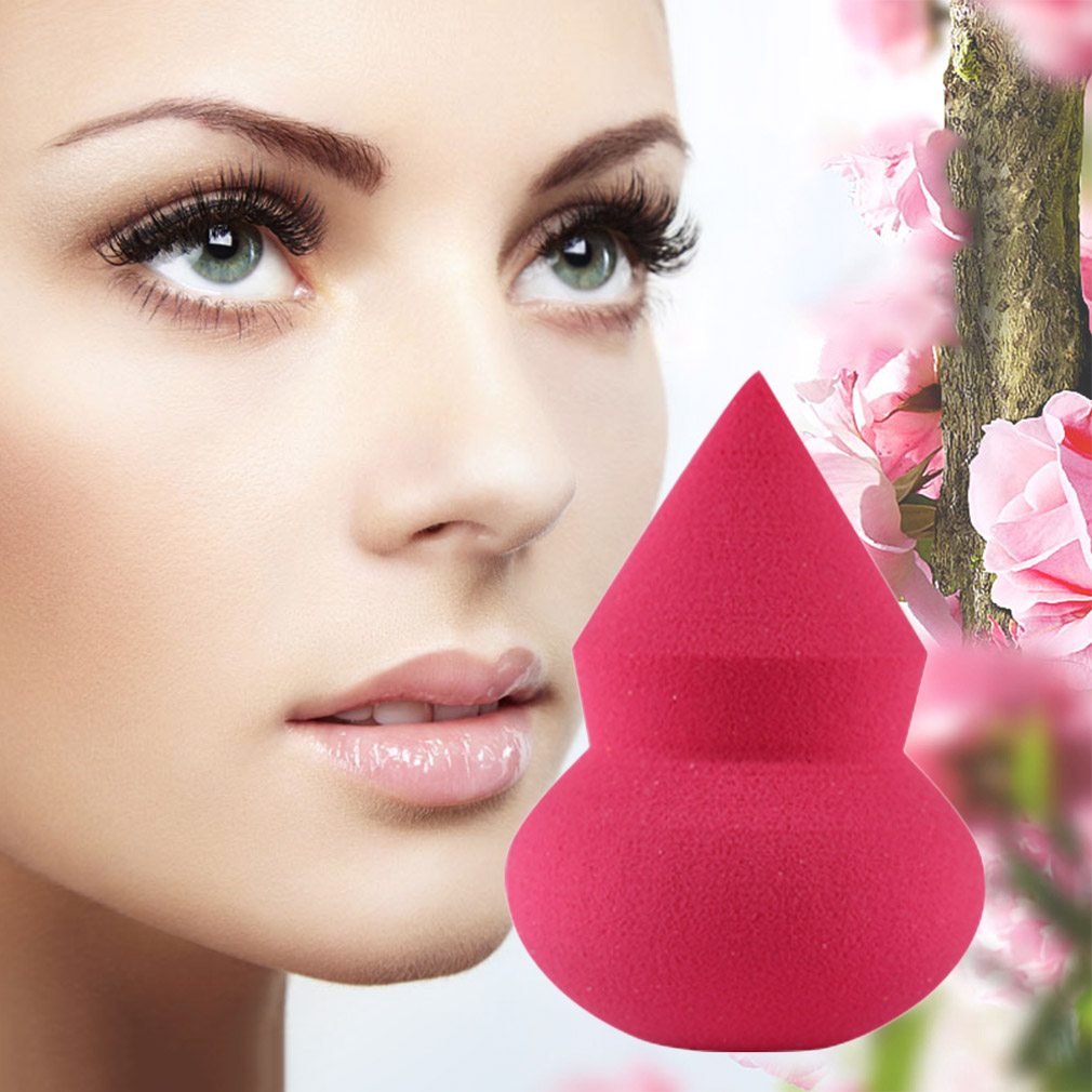 1pc One Side Pointed Gourd shaped Makeup Sponge Blender Puff Flawless Powder