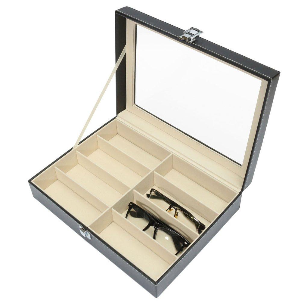 8 Grids Luxury Design PU Leather Men Women Sunglasses Shop Display Box