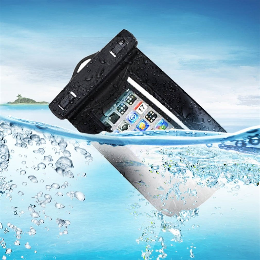 NEW Swimming Sport MUSIC IN WATER Waterproof Cell Phone Case Bag 140*90mm