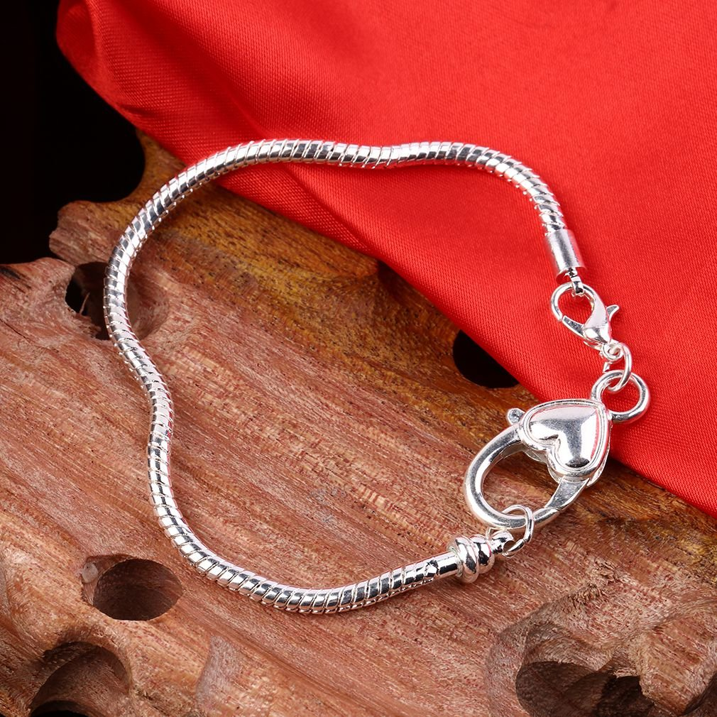 1 pcs Adjustable Lobster Clasp Snake Shaped Chain Charm Bracelet for Gift