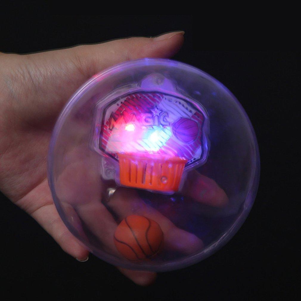 Mini Handheld Basketball Shooting Device Pressure Reducing Toy Light + Music