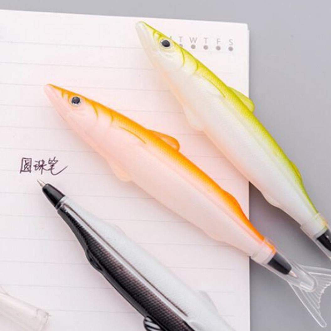 Fish Shape Ballpoint Ink Filled Gel Pen Writing Marker School Office Stationery