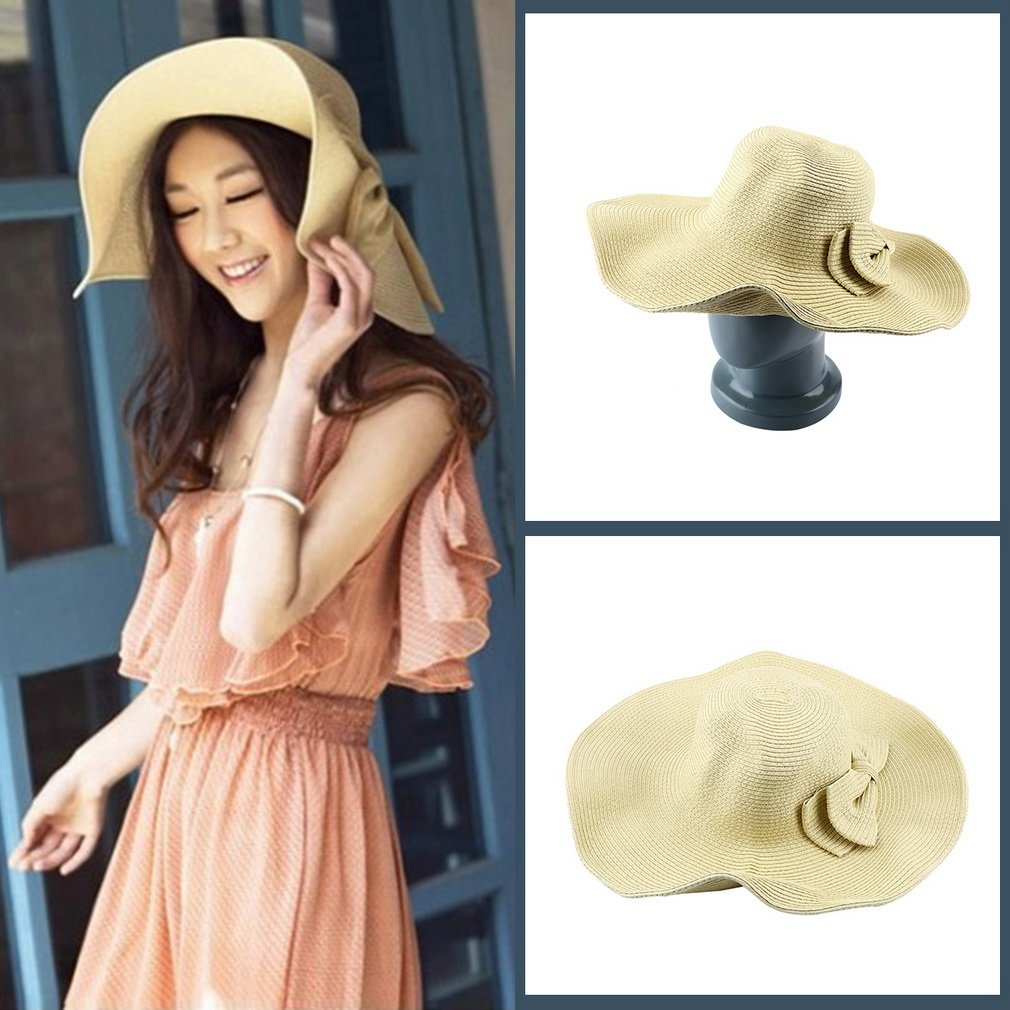 Hot Fashion Women's Summer Beach Sun Hat Straw Floppy Elegant Bohemia Cap