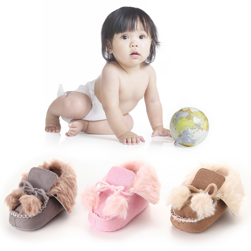 Cute Newborn Infant Toddler Shoes With Two Cute Balls Cotton Soft Sole Shoes