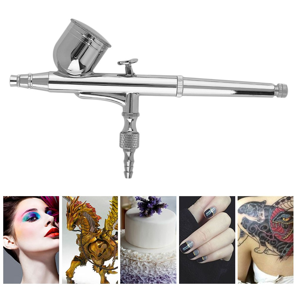 Double Action Airbrush Gun 0.2mm Caliber Compressor For Painting Makeup