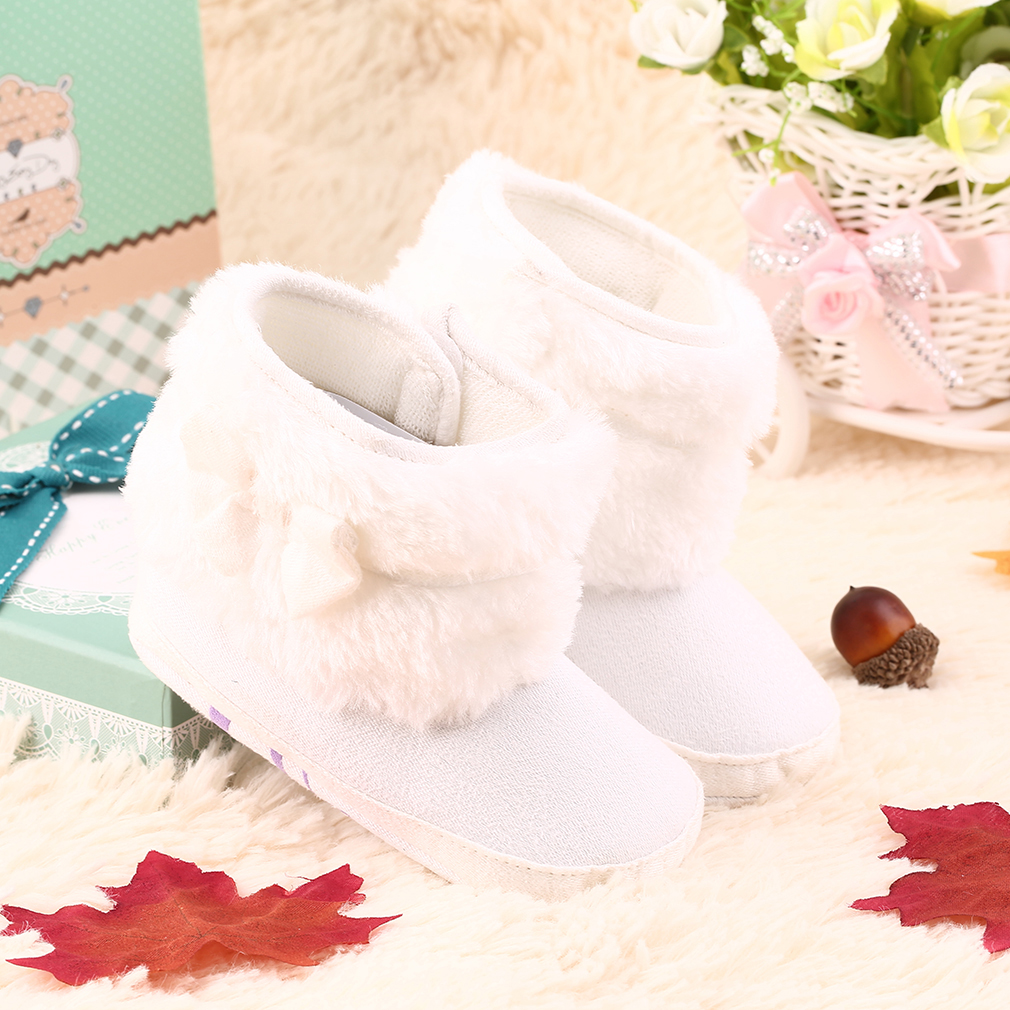 1 Pair Cute Baby Warm Snow Boots Girl Crib Shoes Toddler Infant Boots Gift