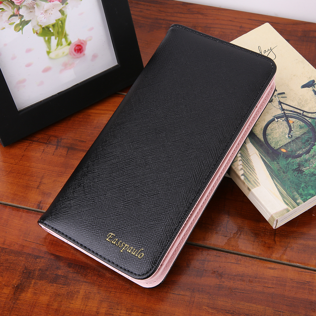 Fashion Stylish Design Simple Casual Fashion Women Clutch Bags Zipper Wallet