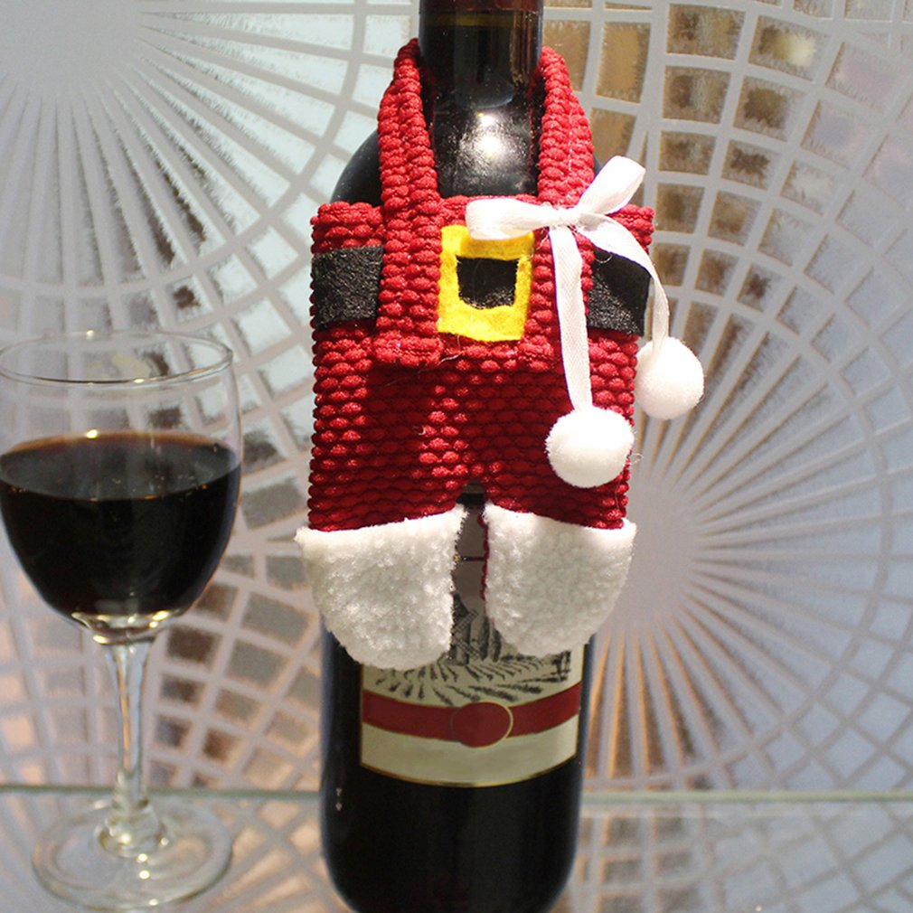 6PCS/SET Beautiful Christmas Decorations Home Table Silverware Holder Bag