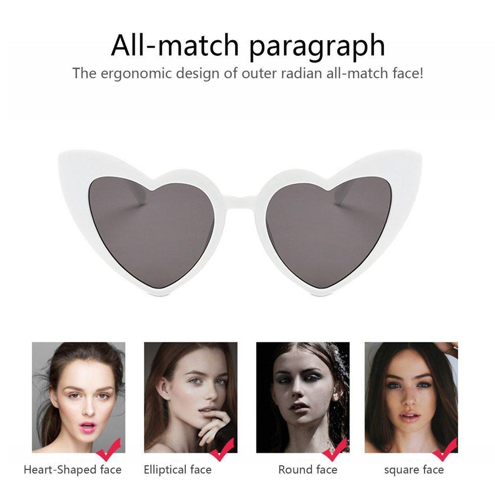 Popular Heart Shape Women Sunglasses Cute UV400 Eyewear Sun Glasses PC Frame PC Lens Ladies Goggle Eyewear BZ650