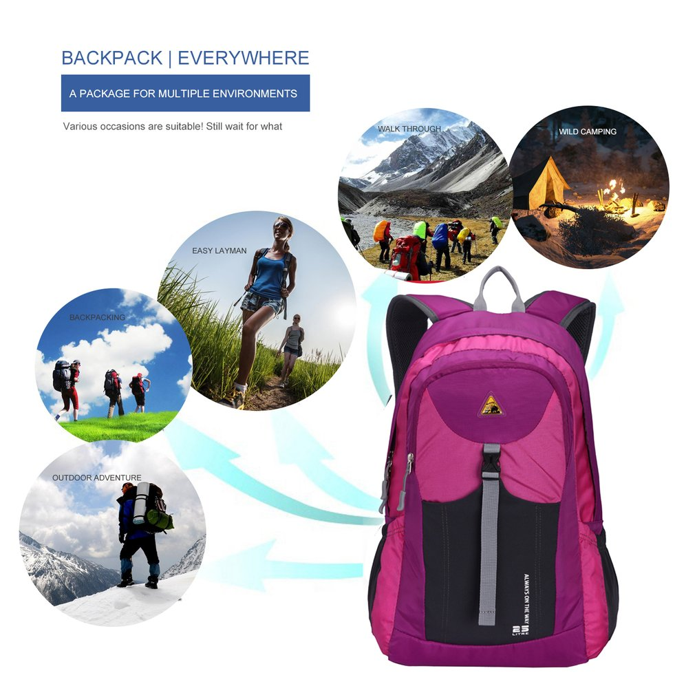 Ultrathin Waterproof Mountaineering Backpack Portable Bag For Outdoor Sports