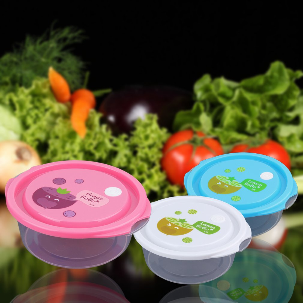 3pcs Kitchen Food Airtight Storage Safe Container Freeze Microwave oven