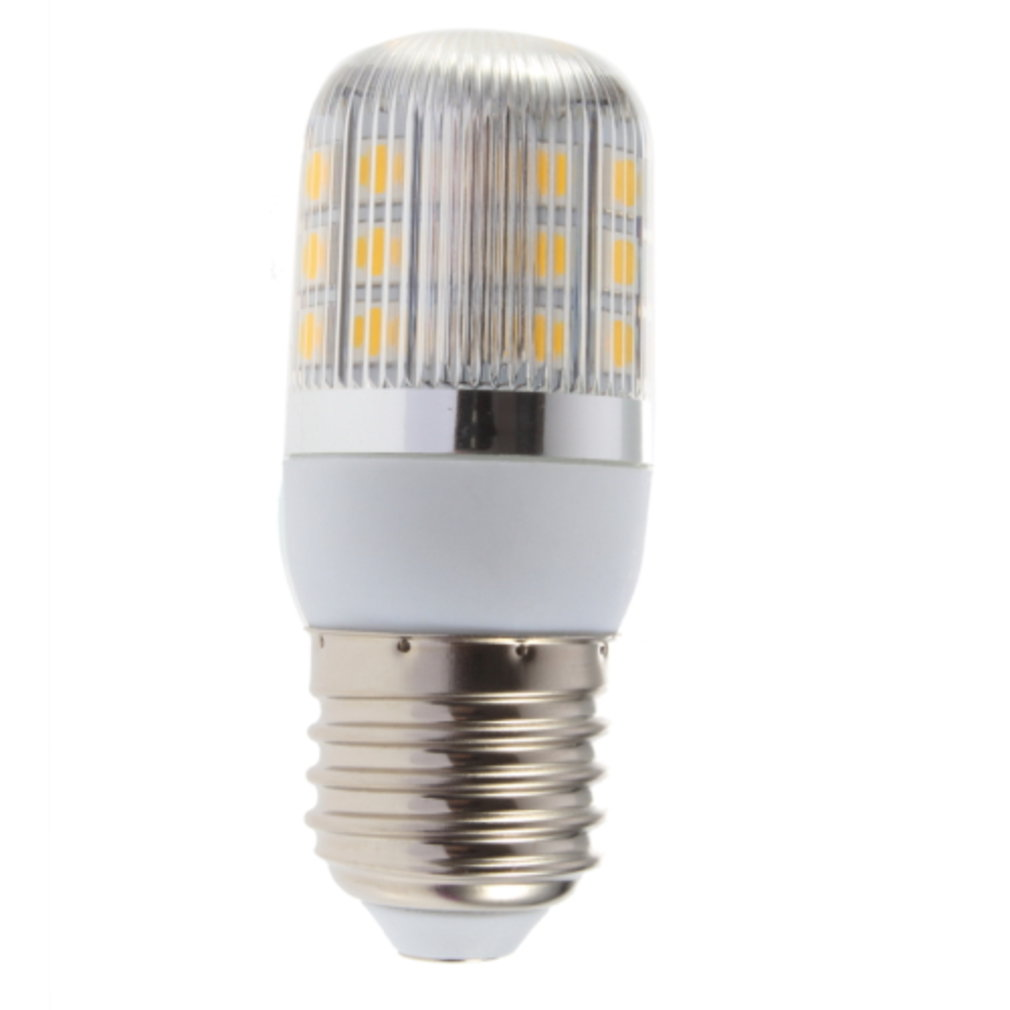 E27 4W 27 LED Warm White 220V Corn Lamp With Streak Cover