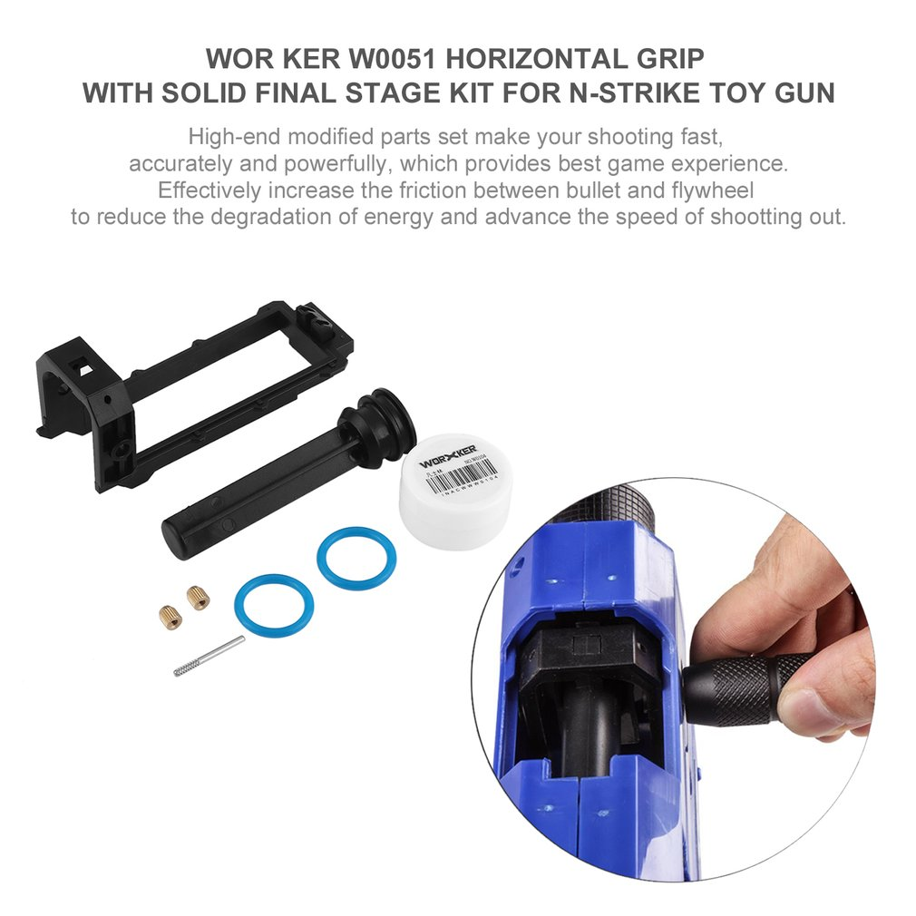 WOR KER W0051 Horizontal Grip with Solid Final Stage Kit for N-Strike Toy Gun