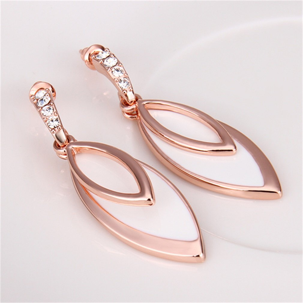 New Hot Beautiful Jewelry Earrings Double Leaves Earrings Gift Earrings
