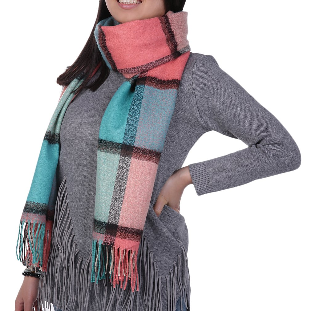 New Women Winter Autumn Winter Scarf Thickened Double Plaid Long Scarf