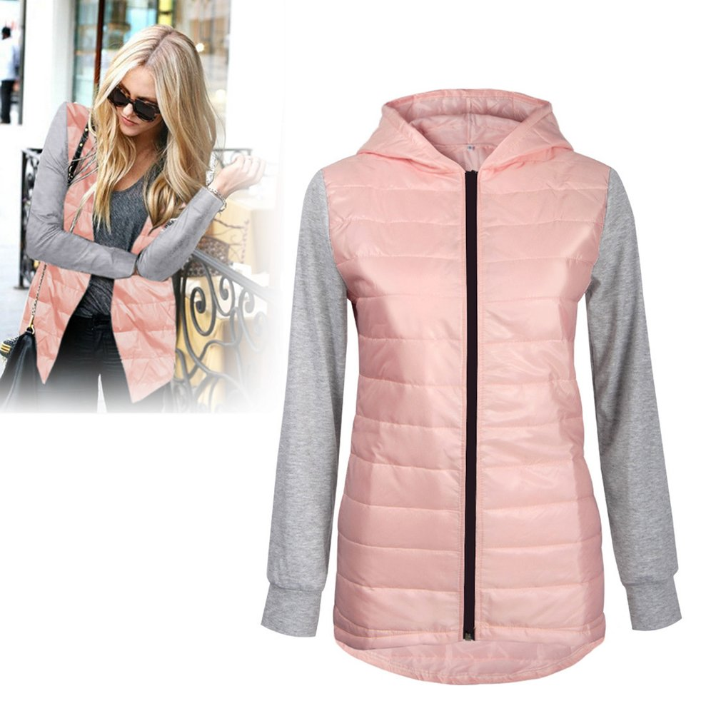 Autumn And Winter Sleeveless Jacket Hooded Coat Zipper Outerwear Cotton Coat
