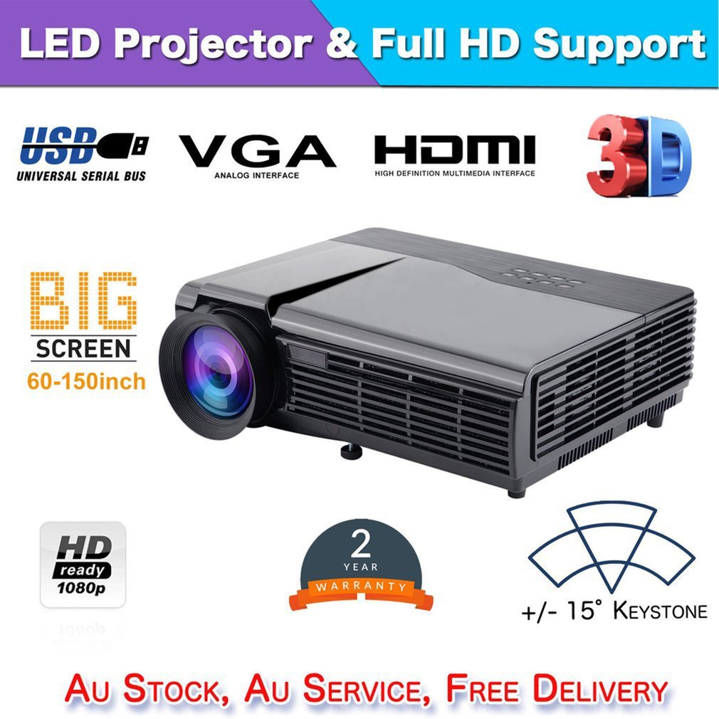 HTP96 Android LED Projector 1080P Full HD Home Theater Wifi Video Projector