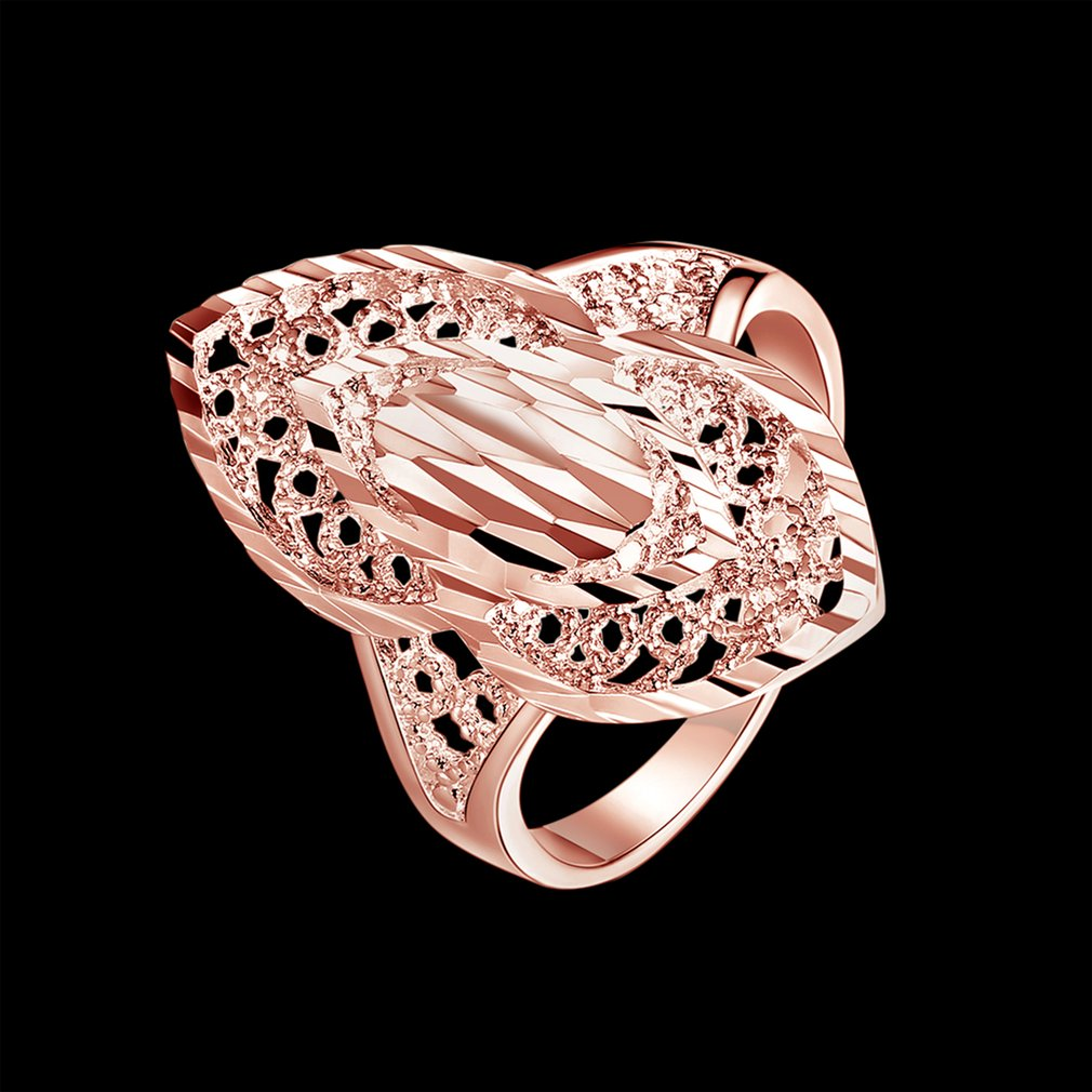 Female Jewelry Flat Finger Ring Jewelry with Geometry Shape Decor For Women