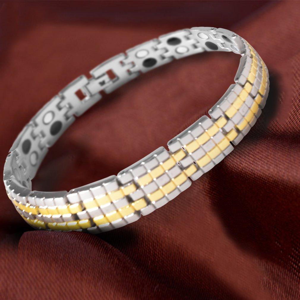 SL0104 Men Titanium Steel Health Magnet Energy Bracelet Bio Energy Bracelet