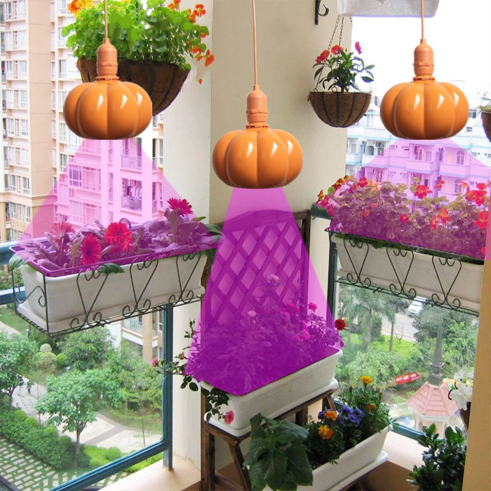 LED Growing Light Pumpkin Shaped Plant Growth Lamp With E26 Lamp Holder