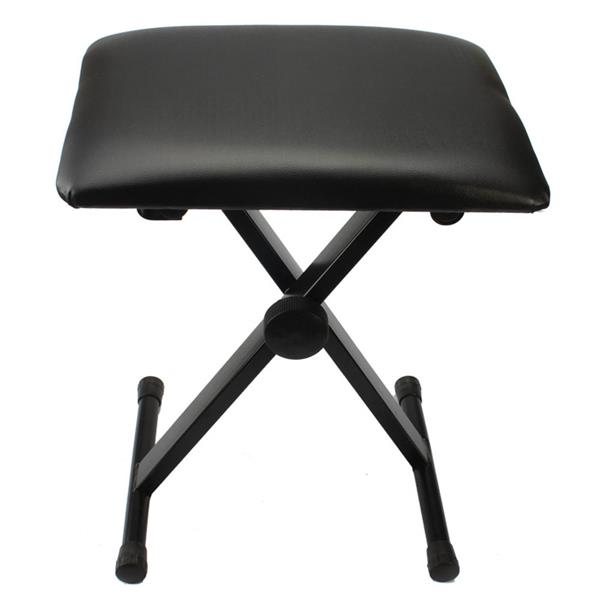 Glarry Adjustable Folding Piano Bench Stool Seat Black