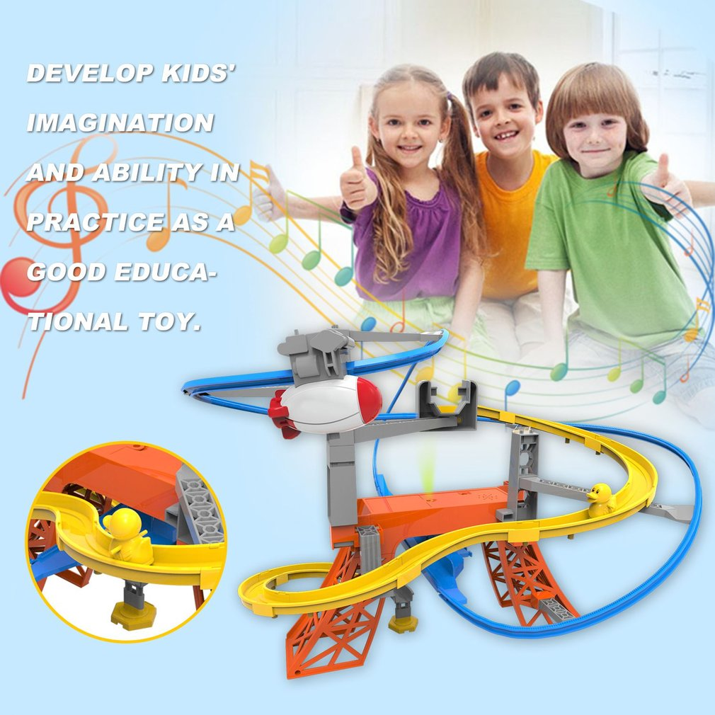 Children Paradise Track DIY Assemble 3D Electric Track With Music Light Cartoon Railcar Educational Toy for Boys And Girls