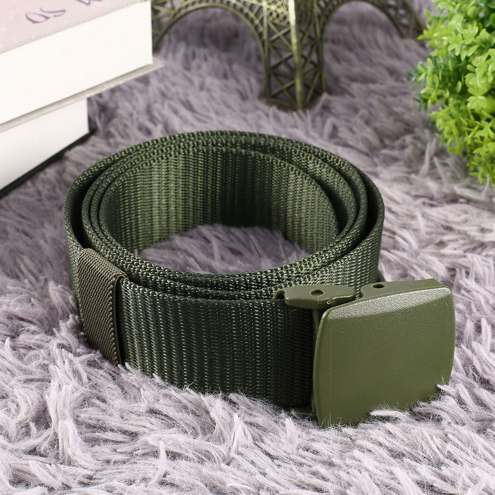 Men Military Belt Heavy Duty Soldier Combat Tactical Belts Nylon Waistband with Nickel free Non-metallic Auto Buckle DA8