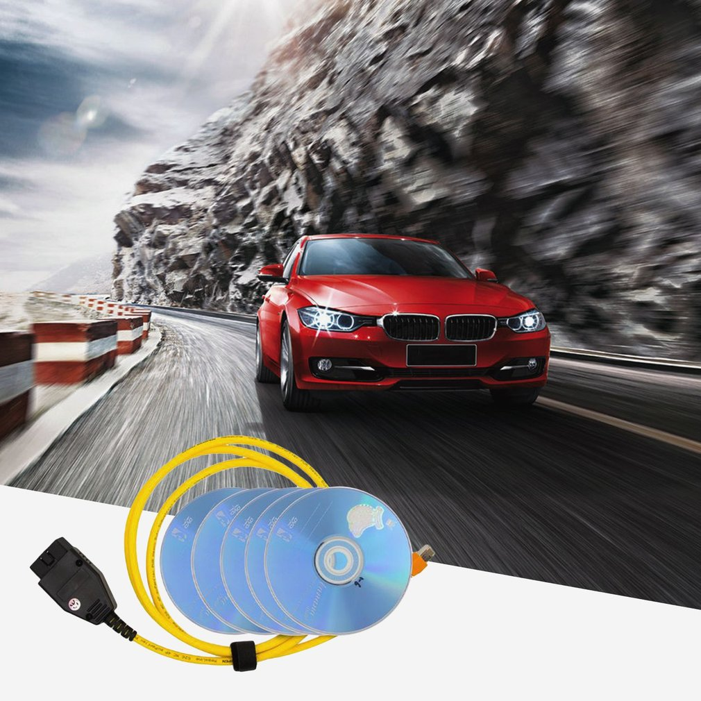Ethernet to OBD Diagnostic Interface Cable for BMW E-SYS ICOM Coding F-series
