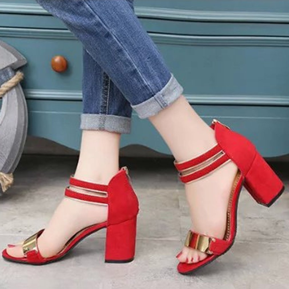 Summer Fashion Sexy Women High Heels Sandals Female Ladies Soft Suede All Match Clothes Pointed Toe Dress Sandals Shoes