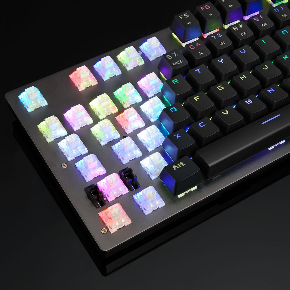 CK89 Gaming Wired Mechanical Keyboard Wired 104 Keys Full Keys Gaming Gamer Keyboard With RGB Backlight for PC Computer