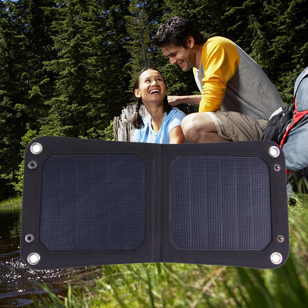 6.5W Foldable Solar Panel Portable Battery Charger for Laptop PC Phone