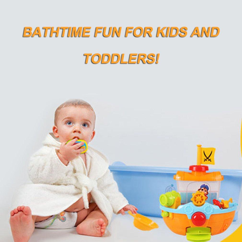 Cute Pirate Ship Bath Tub Toy Bathtub Bath Toy Bathtime Play Set For Kids