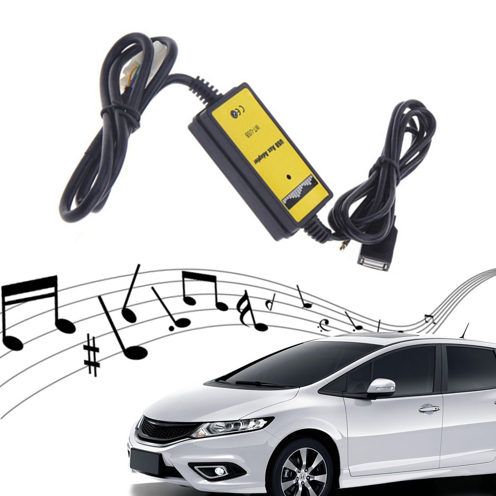 3.5mm Cable Car USB Aux-in Adapter MP3 Player Radio Interface For Honda