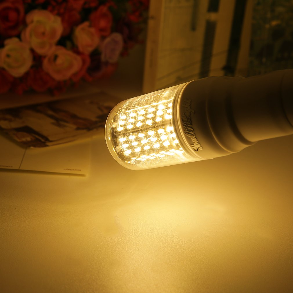 E27 15W Warm/Cool White 138 LED Corn Bulb Light 4014 SMD Lamp 110V-120V