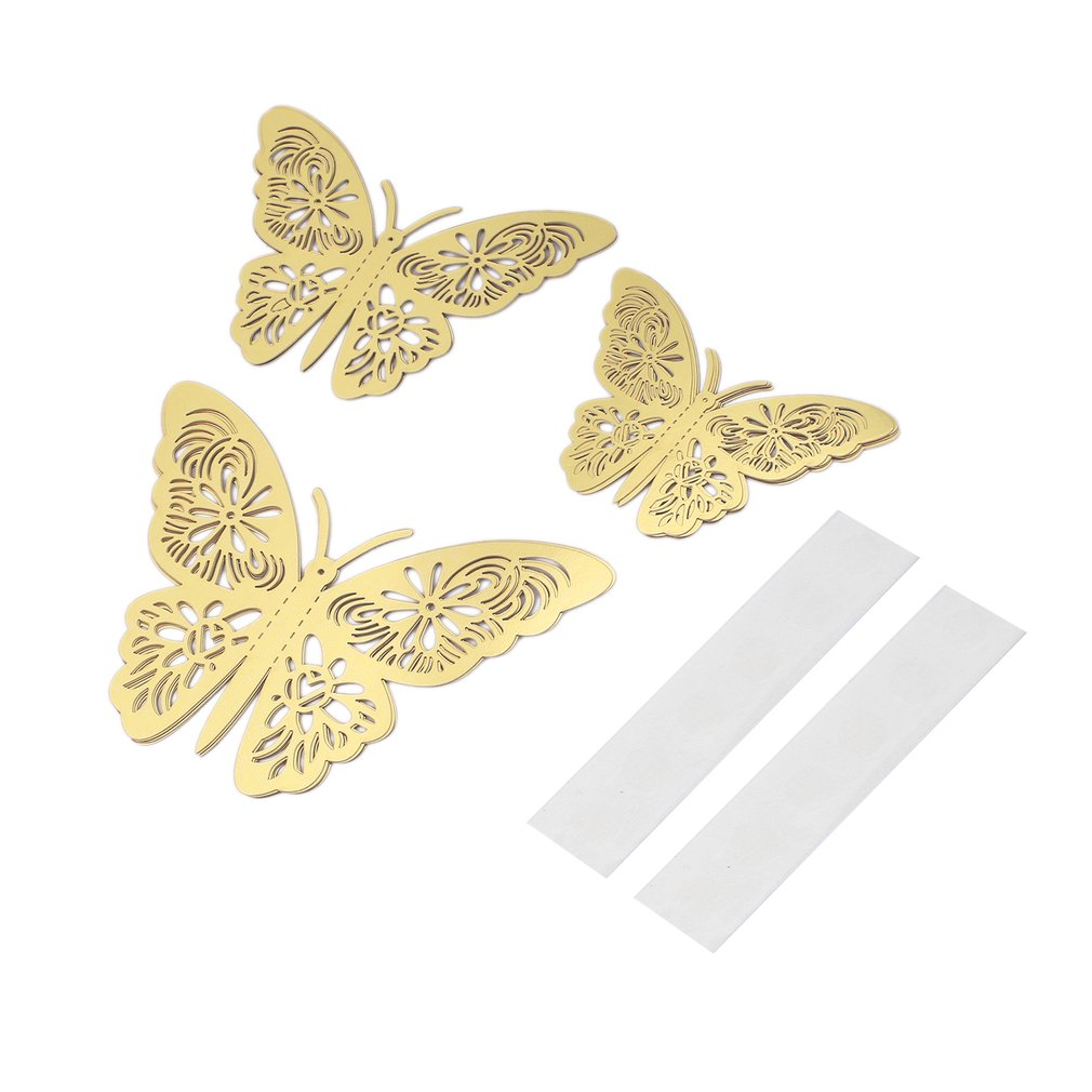 12pcs G-005 3D Butterfly Stickers Hollow DIY Decal Wall Party Wedding Decor
