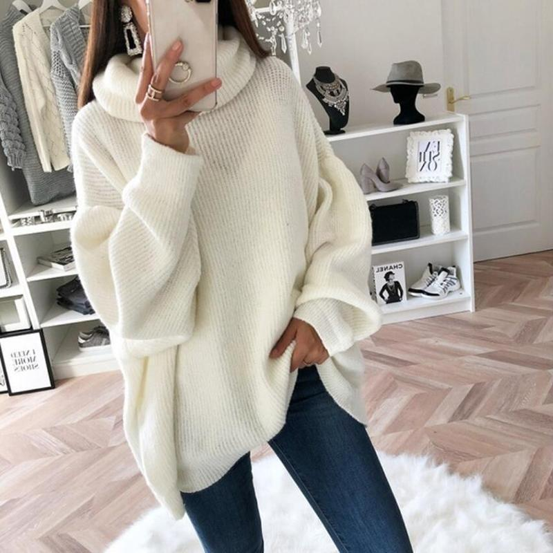 Solid Color Turtleneck Loose Sweater