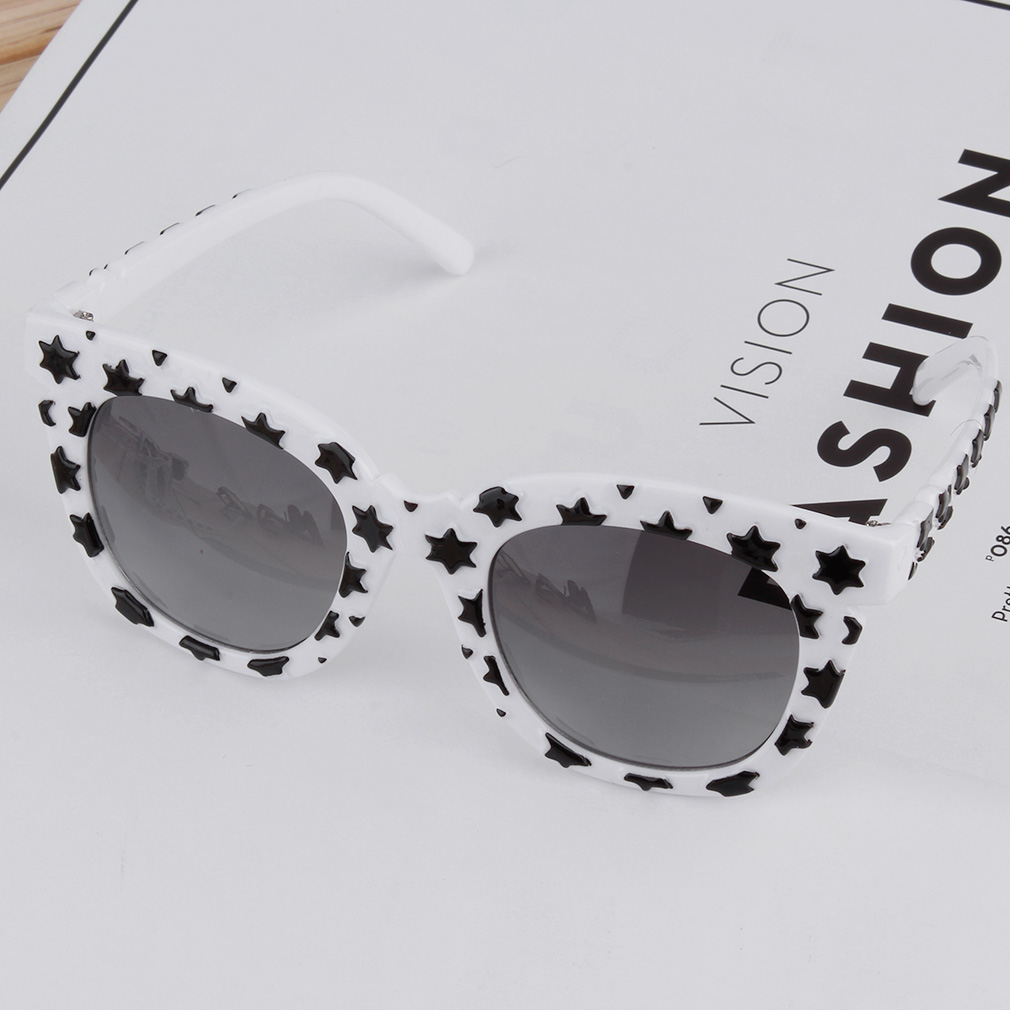 New Fashion Colorful Sunglasses Stars Thick Frame Colorful Film/Gray Lenses