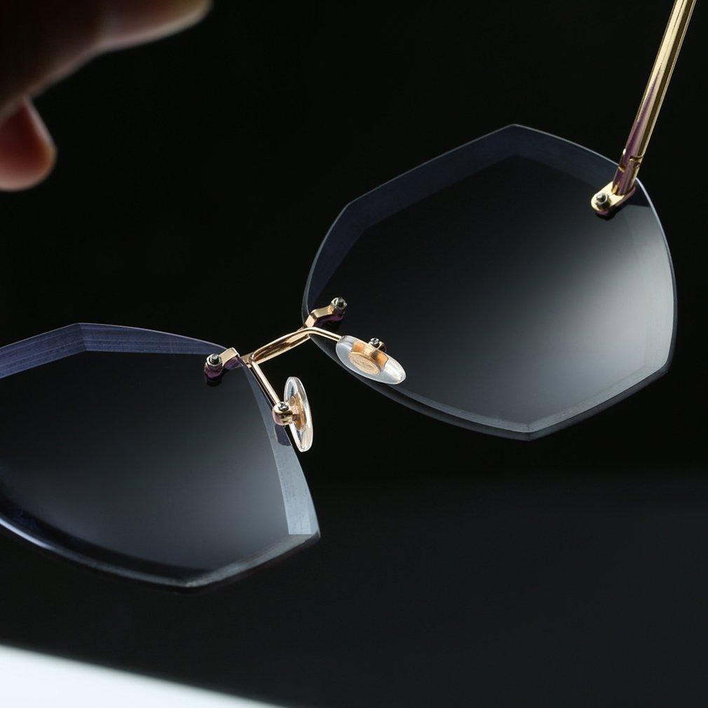 Unique Women Sunglasses Cutting Lens Oversize Eyewear Cat Eye Shades Sun Glasses Ladies Travel Glasses BZ437